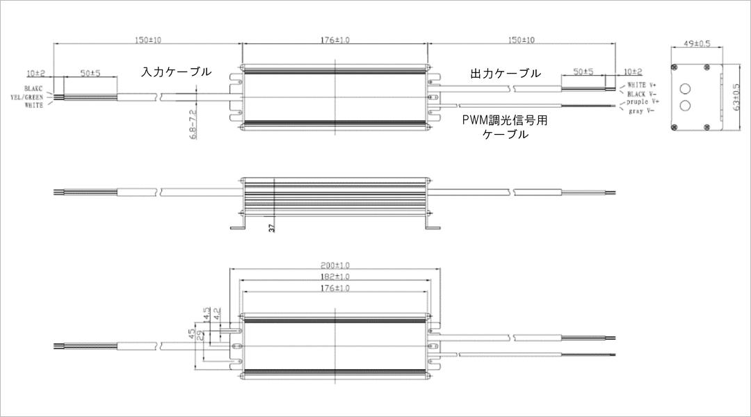 OSRAM 60W サイズ・重量 久保田電子設計